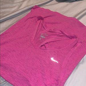 Pink Nike workout tank size Medium